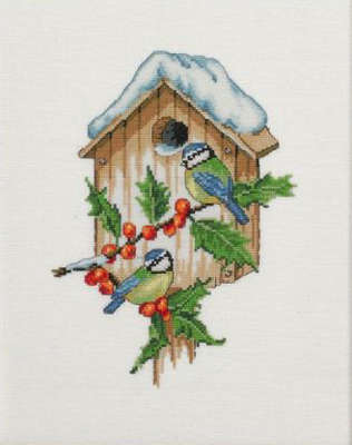 Blue Tits in Winter - click for larger image