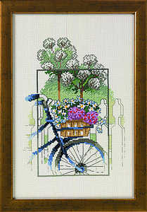 Bicycle with flowers - click for larger image