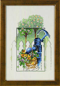 Water pump and flowers - click for larger image