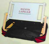 A Siesta LapMan® Bag in Burgundy with Sewing Frame