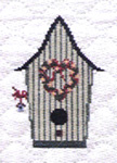 quilted birdhouse
