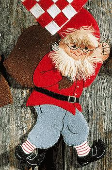 Santa Claus with sack Felt Applique Kit