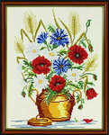 Harvest flower vase - click for larger image