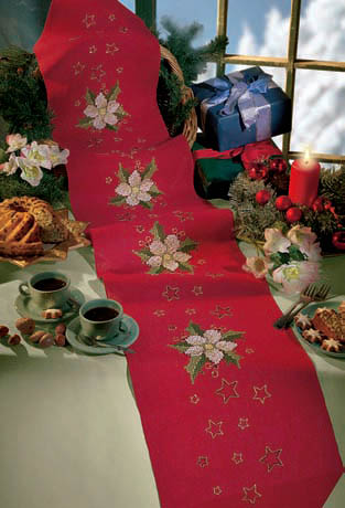 Christmas Rose with Stars wall hanging