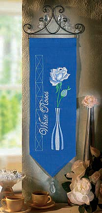 White Rose wall hanging