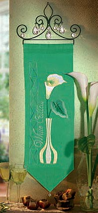 White Calla Lily wall hanging