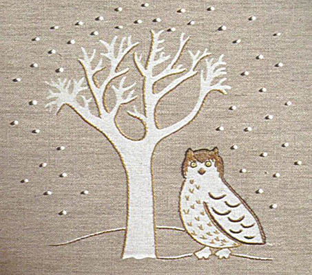 Owl and tree wall panel
