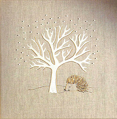 Hedgehog and tree wall panel