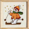 Skiing Snowman picture
