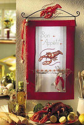 Lobster wall hanging - Counted cross stitch