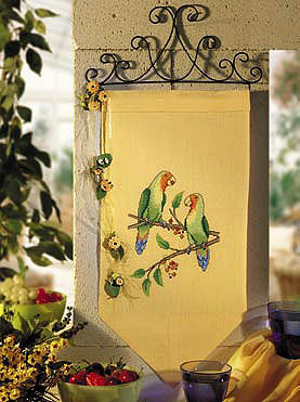 Lovebirds Wall hanging - Counted cross stitch