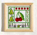 Cherry picture - Counted cross stitch