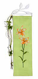 Lily wall hanging - Counted cross stitch