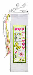 Spring flower wall hanging - Counted cross stitch