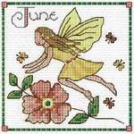 Click for more details of 12 Monthly Birthday Fairies (cross stitch) by Lesley Teare