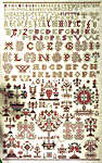 Click for more details of 1854 Sampler (cross stitch) by Permin of Copenhagen