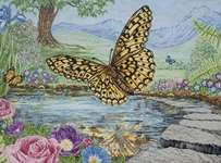 Click for more details of 3D Butterfly (cross-stitch kit) by maia