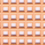 Click for more details of 7 Mesh Plastic Canvas Peach (fabric) by Darice