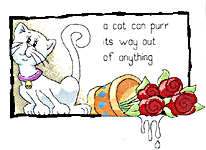 Click for more details of A cat can purr its way out of anything (cross-stitch kit) by Peter Underhill