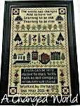Click for more details of A Changed World (cross stitch) by The Scarlett House