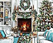Click for more details of A Christmas Interior (cross stitch) by Luca - S