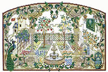 counted cross stitch garden patterns