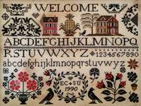Click for more details of A Quaker Welcome (cross stitch) by Lila's Studio