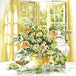 Click for more details of A Sunny Morning (cross-stitch kit) by Lanarte