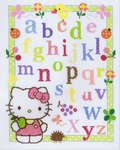 Click for more details of ABC with Hello Kitty (cross stitch) by Vervaco