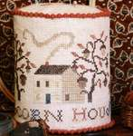 Click for more details of Acorn House Pin Drum (cross stitch) by Heartstring Samplery