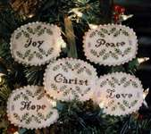 Click for more details of Advent Candles Ornament Set (cross stitch) by Heartstring Samplery