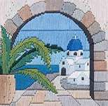 Click for more details of Aegean Arch (long-stitch) by Rose Swalwell