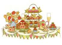 Click for more details of Afternoon Tea Party (cross stitch) by DMC Creative