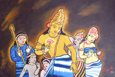 Click for more details of AJANTA:THE CLASSICAL ART OF INDIA (oil on board) by ragunath
