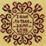 Click for more details of All my Love (cross stitch) by ScissorTail Designs