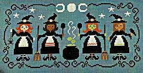 Click for more details of All The Witches (cross stitch) by Tiny Modernist