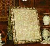 Click for more details of Alphabet En Blanc (cross stitch) by Sue Hillis Designs