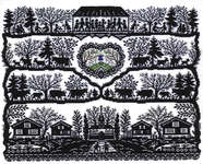 Click for more details of Alpine Village Silhouette (cross stitch) by Eva Rosenstand