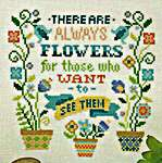 Click for more details of Always Flowers (cross stitch) by Tiny Modernist