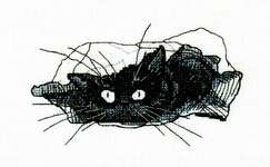 Click for more details of Among Black Cats - Cat in a Bag (cross stitch) by RTO