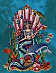 Click for more details of Amphitrite, Queen Goddess of the Sea (cross stitch) by Bella Filipina