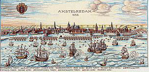 Click for more details of Amsterdam 1650 (cross stitch) by Eva Rosenstand