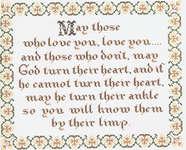 Click for more details of An Irish Prayer (cross stitch) by Homespun Samplar