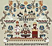 Click for more details of Anastasiya Nikitina Sampler (cross stitch) by Twin Peak Primitives