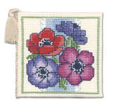 Click for more details of Anemones Needlecase (cross stitch) by Textile Heritage