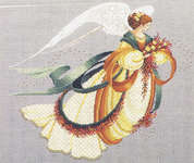 Click for more details of Angel of Autumn (cross stitch) by Lavender & Lace