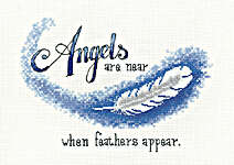 Click for more details of Angels are Near (cross stitch) by Peter Underhill