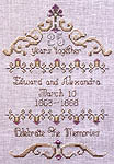 Click for more details of Anniversary Sampler (cross-stitch pattern) by In a Gentle Fashion