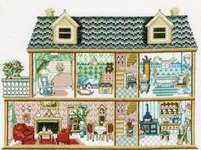 Click for more details of Antique Dollhouse (cross stitch) by Permin of Copenhagen