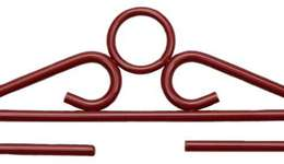 Click for more details of Antique Red Christmas Hangers (bell pulls) by Permin of Copenhagen